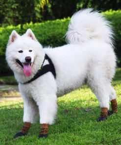abcGoodefg Pet Dog Puppy Waterproof Nonslip Sports Socks Shoes Boots, Rubber Sole, Comfortable Design (#0, Leopard) 7