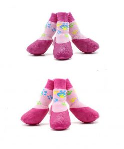 abcGoodefg Pet Dog Puppy Waterproof Nonslip Sports Socks Shoes Boots, Rubber Sole, Comfortable Design (#0, Pink) 6