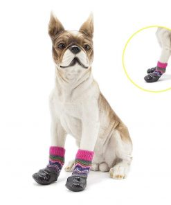abcGoodefg Pet Dog Puppy Waterproof Nonslip Sports Socks Shoes Boots, Rubber Sole, Comfortable Design for Small Medium Large Pet Dog. (Ethnic, 0) 8