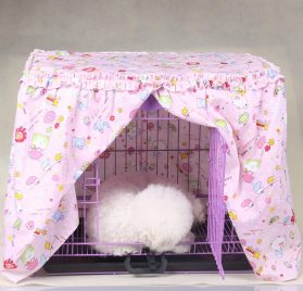 Alfie Pet by Petoga Couture - Cyrille Pet Crate Cover - Color- Pink, Size- XS 2