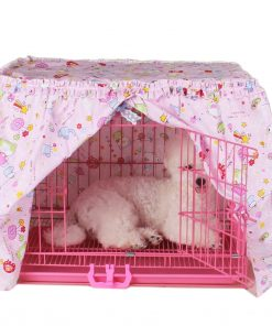 Alfie Pet by Petoga Couture - Cyrille Pet Crate Cover - Color- Pink, Size- XS