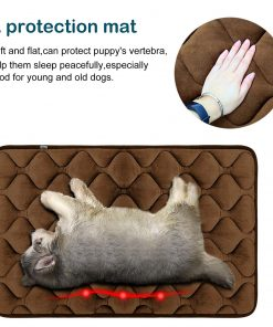 Hero Dog Small Dog Bed Mat 21 Inch Crate Pad Anti Slip Mattress Washable for Pets Sleeping (Coffee XS) 2