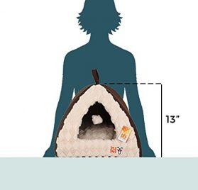 [New] PLS Birdsong Pet Tent Velvet Cuddle Bed, Soft Dog House, Dog Cave, Cat Cave, Dog Bed, Cat Bed, Dog Beds for Small Dogs 2
