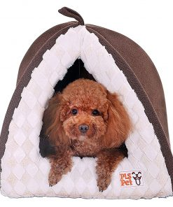 [New] PLS Birdsong Pet Tent Velvet Cuddle Bed, Soft Dog House, Dog Cave, Cat Cave, Dog Bed, Cat Bed, Dog Beds for Small Dogs