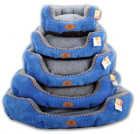 PLS Pet Snugg Bolster Pet Bed, Dog Bed, Completely Washable, Easy-Clean, Modern Design, Durable 2