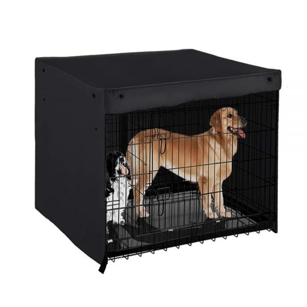 PONY DANCE Pets Cage Cover - Dogs Metal Crate Kennel Covers Durable Security Shade Light Block Breathable Bird Puppy Animal Cat Square Universal House Cover for Better Sleep