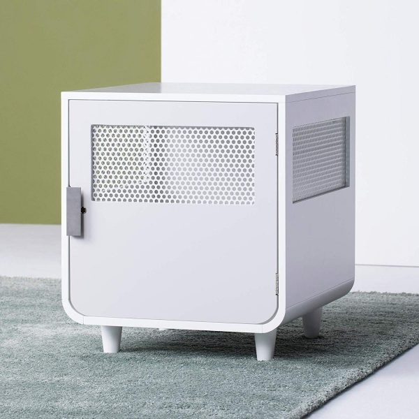 Staart - Radius Wooden Dog Crate - Alpine White - Small