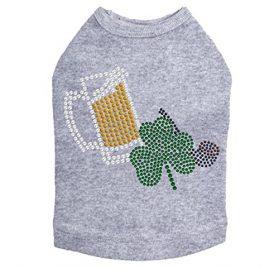 Beer Mug, Clover, Pipe - St. Patricks Day Rhinestone Dog Shirt