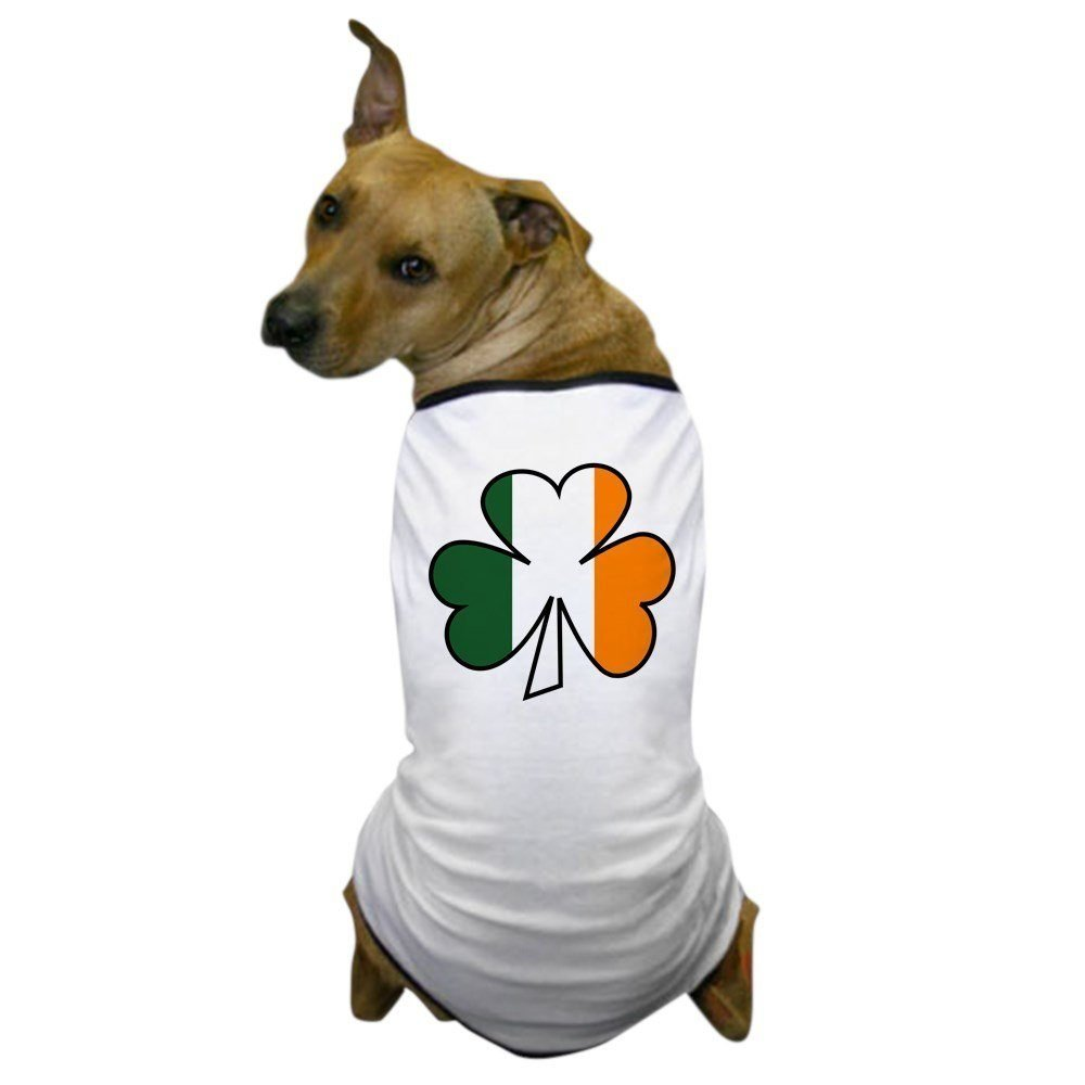 fde3ec78 CafePress – Shamrock Irish Flag Dog T-Shirt – Dog T-Shirt, Pet Clothing,  Funny Dog Costume