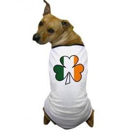 CafePress - Shamrock Irish Flag Dog T-Shirt - Dog T-Shirt, Pet Clothing, Funny Dog Costume