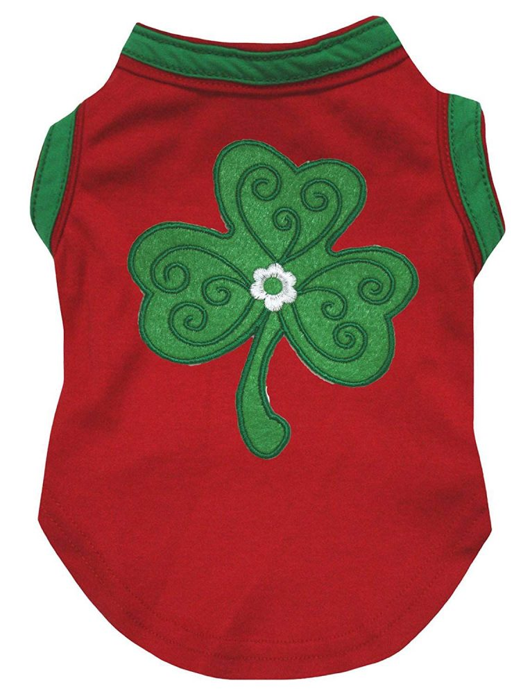 20c9398815cc Petitebella Green Clover Leaf Cotton Shirt Puppy Dog Clothes