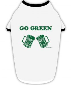 TooLoud Go Green - St. Patrick's Day Green Beer Stylish Cotton Dog Shirt