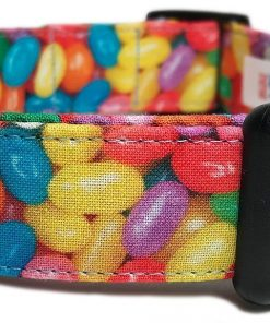 Adjustable Dog Collar in Easter Jelly Beans (Handmade in the U.S.A.)