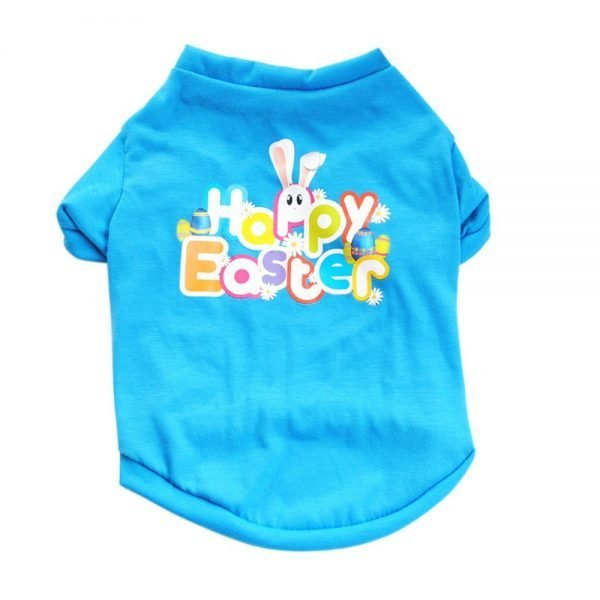 Axchongery Dog Shirt, Puppy Bunny Apparel Happy Easter Pet Clothing for Small Dog (Sky Blue, XXS)