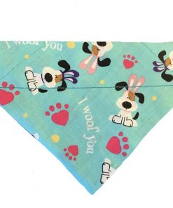 BPAWED PALS I Woof You Easter Over-The-Collar Dog Bandana