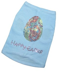 FanGarb Pet Clothes Rhinestone Happy Easter Puppy Dog Shirts for Small, Medium, Large Dogs Cat Shirt