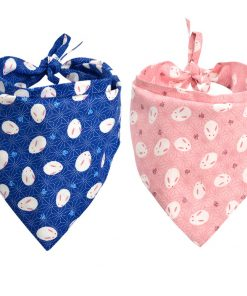 KZHAREEN 2 Pack Easter Dog Bandana Reversible Triangle Bibs Scarf Accessories for Dogs Cats Pets Animals
