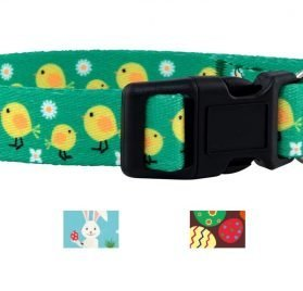 Native Pup Easter Dog Collar (Chicks, Small)