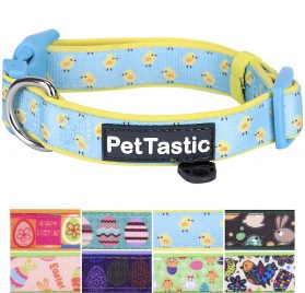 PetTastic Best Adjustable Dog Collar Durable Soft & Heavy Duty with Cute Easter Design, Outdoor & Indoor use Comfort Dog Collar