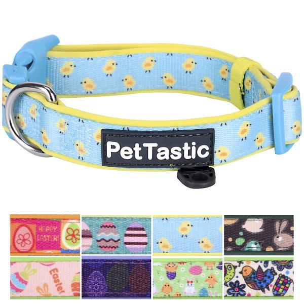 PetTastic Best Adjustable Dog Collar Durable Soft & Heavy Duty with Cute Easter Design, Outdoor & Indoor use Comfort Dog Collar