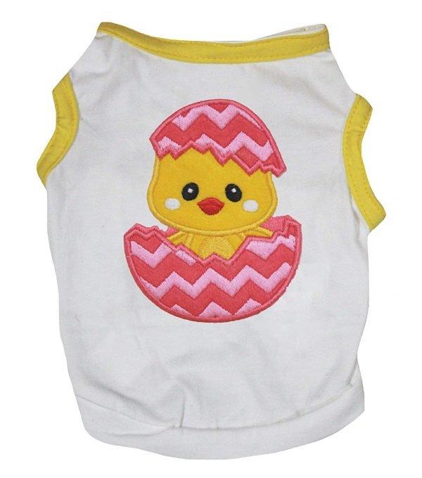 Petitebella Chick Egg Cotton Shirt Puppy Dog Clothes
