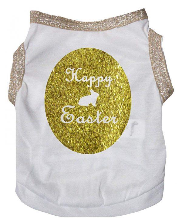 Petitebella Happy Easter Egg Cotton Shirt Puppy Dog Clothes