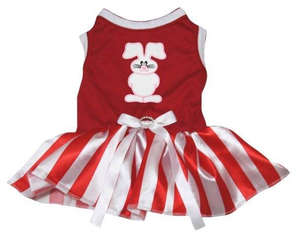 Petitebella Puppy Dog Clothes Easter Bunny Top Stripe Dress