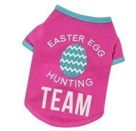 Ymiull Easter Pet Easter Polyester T-Shirt Dog Clothing Polyester T Shirt Puppy Costume for Small Dog
