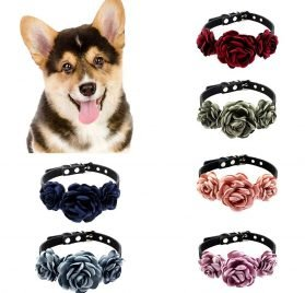 hbz11hl Pet Easter Spring Made Well Floral Dog Collars, Harnesses, Leashes, Dresses or Toys Small Dog and Cat Collars with Cute Flowers Bandana 2