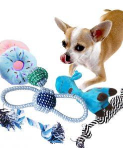 BUIBIIU Dog Toys Small Dog Chew Toys Dog Teething Toys Squeaky Toys Chihuahua Pomeranian Corgi and PoodlesToys 6 PCS 2