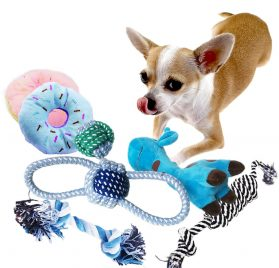 BUIBIIU Dog Toys Small Dog Chew Toys Dog Teething Toys Squeaky Toys Chihuahua Pomeranian Corgi and PoodlesToys 6 PCS 2