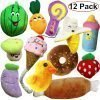 Jalousie 12 Pack Dog Squeaky Toys Cute Plush Toys for Small Medium Dog Pets