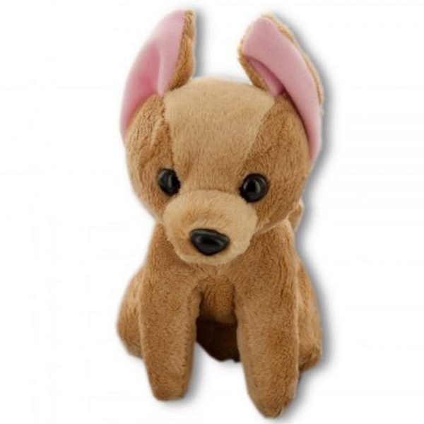 Pawfect Boss Dog Toy Plush Brown Chihuahua