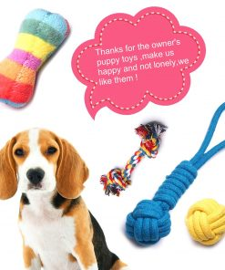 YUNKINGDOM (Pack of 12) Dog Rope Toys Squeaky Plush Dog Toys,Dog Chew Toys Set for Puppies and Small Dogs(Pack of 12) 2