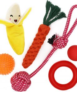 yotache Small Dog Toys Set 6 Pack Ball Rope and Chew Toys for Small Dog Puppy