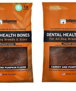 (2 Pack) Indigenous Dental Health Bones Carrot and Pumpkin Flavor - 17 Ounces each