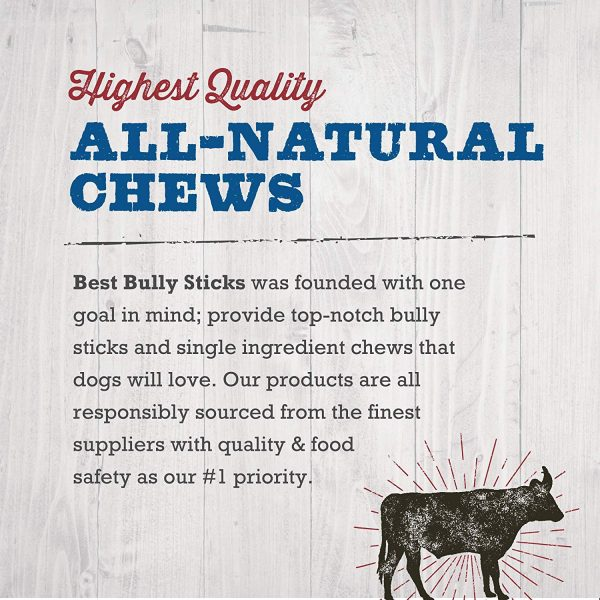 Best Bully Sticks Odor-Free Angus Bully Sticks - Made of All-Natural, Free-Range, Grass-Fed Angus Beef - Hand-Inspected and USDA FDA-Approved 8