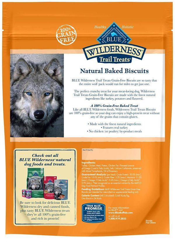 Blue Buffalo Wilderness Trail Treats Grain Free Biscuits Crunchy Dog Treats 2