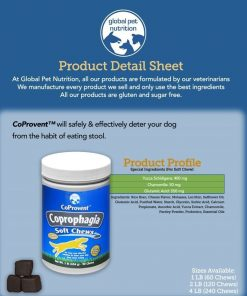 Coprovent Coprophagia- Prevents Your Dog From Eating Stool- 1 Pound Of Highly Concentrated Soft Chews- Great Value 2