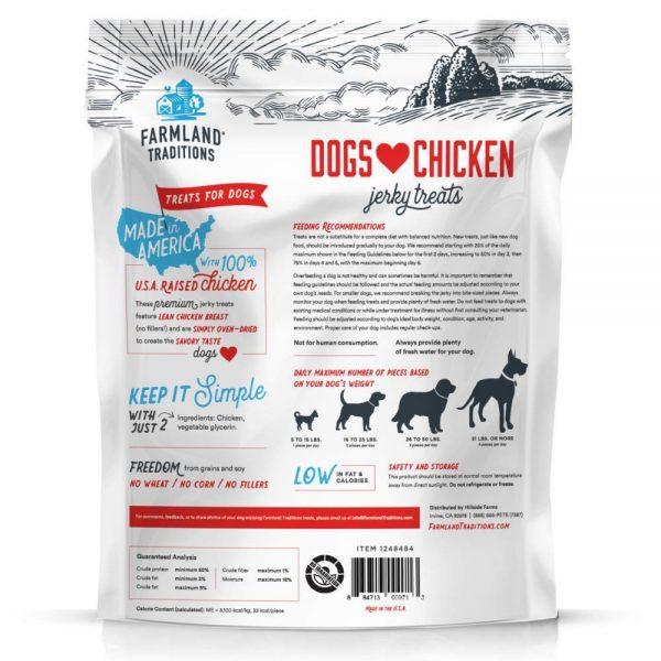 Farmland Traditions Usa Made Chicken Jerky Dog Treats, 3 Lb. 2
