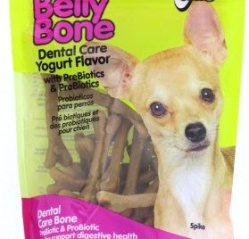 Fido Dental Care Belly Bones for Dogs, Yogurt Flavor - Safely Digestible Chew That Promotes Plaque and Tartar Control