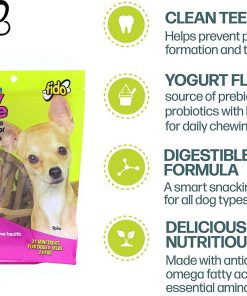 Fido Dental Care Belly Bones for Dogs, Yogurt Flavor - Safely Digestible Chew That Promotes Plaque and Tartar Control 7