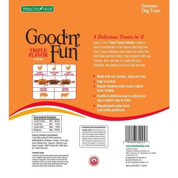 Good 'N' Fun Triple Flavored Rawhide Kabobs For Dogs, 12 Oz 2
