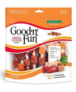 Good 'N' Fun Triple Flavored Rawhide Kabobs For Dogs, 12 Oz