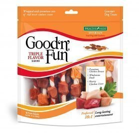 Good 'N' Fun Triple Flavored Rawhide Kabobs For Dogs, 12 Oz