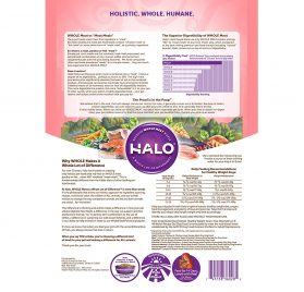 Halo Grain Free Natural Dry Dog Food, Small Breed Healthy Weight Wild Salmon & Whitefish Recipe, 4-Pound Bag 2