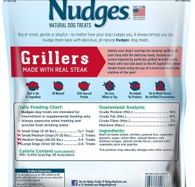 Nudges Steak Grillers Dog Treats, 36 oz 2