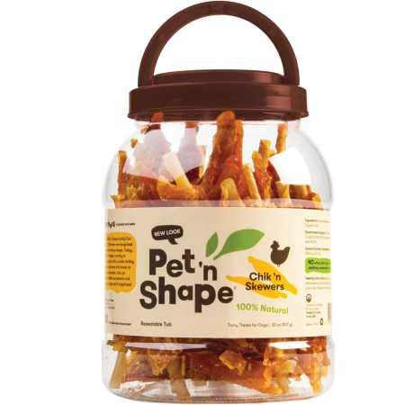 Pet 'n Shape Chik 'n Skewers – Chicken Wrapped Rawhide Dog Chew