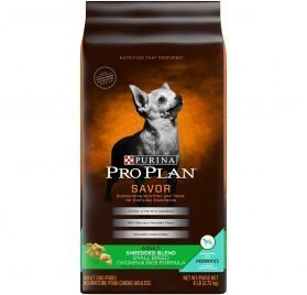 Purina Pro Plan With Probiotics Small Breed Dry Dog Food; SAVOR Shredded Blend Chicken & Rice Formula - 6 lb. Bag