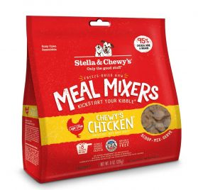 Stella & Chewy's Freeze-Dried Raw Chewy's Chicken Meal Mixers Grain-Free Dog Food Topper, 8 oz. bag